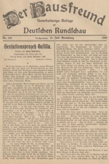 Der Hausfreund : Unterhaltungs-Beilage zur Deutschen Rundschau. 1939, Nr. 158 (14 Juli)