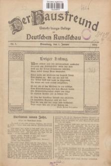 Der Hausfreund : Unterhaltungs-Beilage zur Deutschen Rundschau. 1928, Nr. 1 (1 Januar)