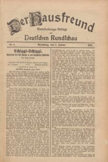 Der Hausfreund : Unterhaltungs-Beilage zur Deutschen Rundschau. 1928, Nr. 2 (3 Januar)