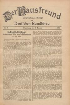 Der Hausfreund : Unterhaltungs-Beilage zur Deutschen Rundschau. 1928, Nr. 5 (6 Januar)