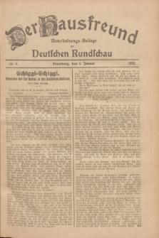 Der Hausfreund : Unterhaltungs-Beilage zur Deutschen Rundschau. 1928, Nr. 6 (8 Januar)