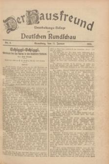 Der Hausfreund : Unterhaltungs-Beilage zur Deutschen Rundschau. 1928, Nr. 8 (11 Januar)