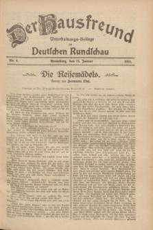 Der Hausfreund : Unterhaltungs-Beilage zur Deutschen Rundschau. 1928, Nr. 9 (12 Januar)