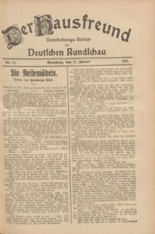 Der Hausfreund : Unterhaltungs-Beilage zur Deutschen Rundschau. 1928, Nr. 11 (14 Januar)