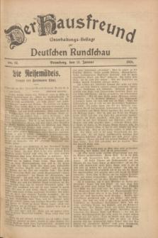 Der Hausfreund : Unterhaltungs-Beilage zur Deutschen Rundschau. 1928, Nr. 12 (15 Januar)