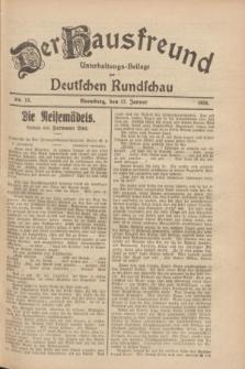 Der Hausfreund : Unterhaltungs-Beilage zur Deutschen Rundschau. 1928, Nr. 13 (17 Januar)