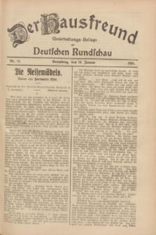 Der Hausfreund : Unterhaltungs-Beilage zur Deutschen Rundschau. 1928, Nr. 14 (18 Januar)