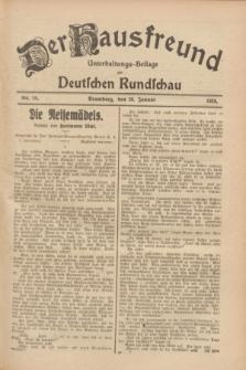 Der Hausfreund : Unterhaltungs-Beilage zur Deutschen Rundschau. 1928, Nr. 16 (20 Januar)