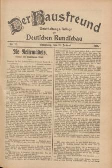 Der Hausfreund : Unterhaltungs-Beilage zur Deutschen Rundschau. 1928, Nr. 17 (21 Januar)