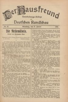 Der Hausfreund : Unterhaltungs-Beilage zur Deutschen Rundschau. 1928, Nr. 20 (25 Januar)