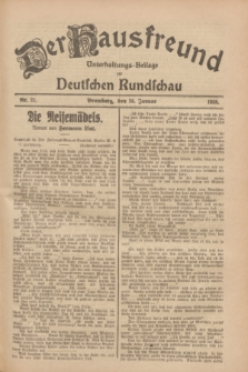 Der Hausfreund : Unterhaltungs-Beilage zur Deutschen Rundschau. 1928, Nr. 21 (26 Januar)