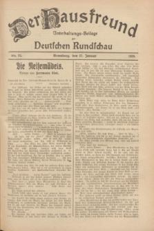 Der Hausfreund : Unterhaltungs-Beilage zur Deutschen Rundschau. 1928, Nr. 22 (27 Januar)