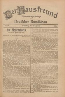 Der Hausfreund : Unterhaltungs-Beilage zur Deutschen Rundschau. 1928, Nr. 23 (28 Januar)