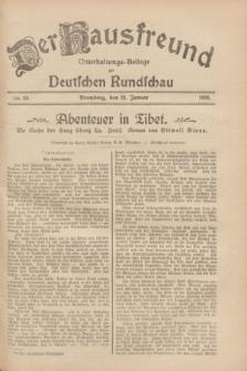 Der Hausfreund : Unterhaltungs-Beilage zur Deutschen Rundschau. 1928, Nr. 24 (31 Januar)