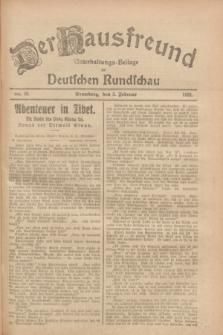Der Hausfreund : Unterhaltungs-Beilage zur Deutschen Rundschau. 1928, Nr. 28 (5 Februar)