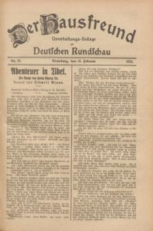 Der Hausfreund : Unterhaltungs-Beilage zur Deutschen Rundschau. 1928, Nr. 31 (10 Februar)