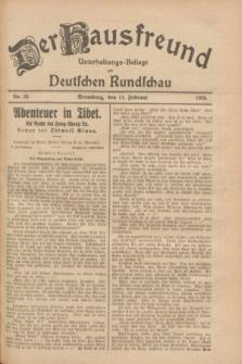 Der Hausfreund : Unterhaltungs-Beilage zur Deutschen Rundschau. 1928, Nr. 32 (11 Februar)