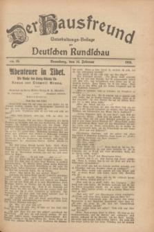 Der Hausfreund : Unterhaltungs-Beilage zur Deutschen Rundschau. 1928, Nr. 35 (16 Februar)