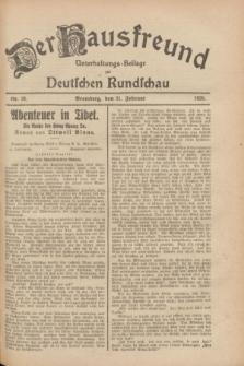 Der Hausfreund : Unterhaltungs-Beilage zur Deutschen Rundschau. 1928, Nr. 38 (21 Februar)