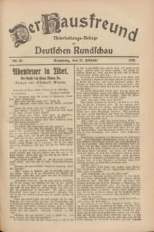 Der Hausfreund : Unterhaltungs-Beilage zur Deutschen Rundschau. 1928, Nr. 40 (23 Februar)