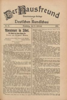 Der Hausfreund : Unterhaltungs-Beilage zur Deutschen Rundschau. 1928, Nr. 41 (24 Februar)