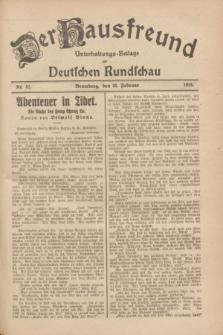 Der Hausfreund : Unterhaltungs-Beilage zur Deutschen Rundschau. 1928, Nr. 42 (25 Februar)