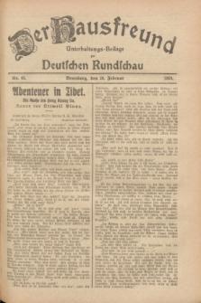 Der Hausfreund : Unterhaltungs-Beilage zur Deutschen Rundschau. 1928, Nr. 43 (28 Februar)