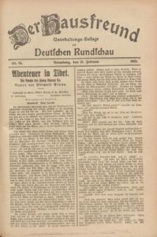 Der Hausfreund : Unterhaltungs-Beilage zur Deutschen Rundschau. 1928, Nr. 44 (29 Februar)