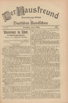 Der Hausfreund : Unterhaltungs-Beilage zur Deutschen Rundschau. 1928, Nr. 47 (3 März)