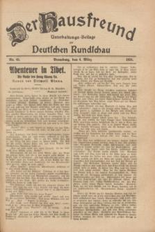 Der Hausfreund : Unterhaltungs-Beilage zur Deutschen Rundschau. 1928, Nr. 48 (6 März)