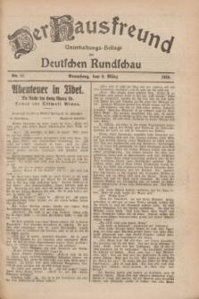 Der Hausfreund : Unterhaltungs-Beilage zur Deutschen Rundschau. 1928, Nr. 51 (9 März)