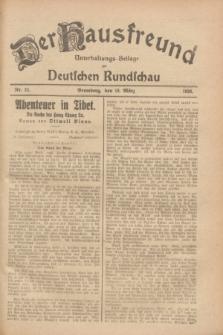 Der Hausfreund : Unterhaltungs-Beilage zur Deutschen Rundschau. 1928, Nr. 52 (10 März)