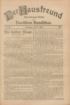 Der Hausfreund : Unterhaltungs-Beilage zur Deutschen Rundschau. 1928, Nr. 56 (16 März)