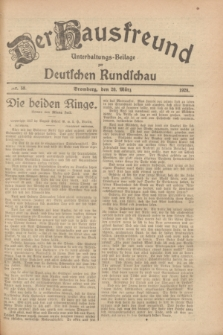 Der Hausfreund : Unterhaltungs-Beilage zur Deutschen Rundschau. 1928, Nr. 58 (20 März)