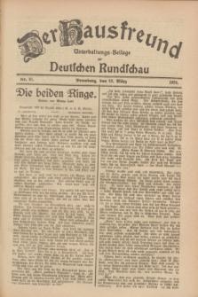 Der Hausfreund : Unterhaltungs-Beilage zur Deutschen Rundschau. 1928, Nr. 61 (23 März)