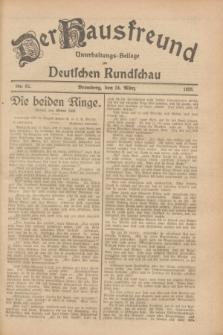 Der Hausfreund : Unterhaltungs-Beilage zur Deutschen Rundschau. 1928, Nr. 62 (24 März)