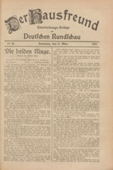 Der Hausfreund : Unterhaltungs-Beilage zur Deutschen Rundschau. 1928, Nr. 64 (27 März)