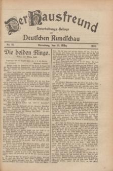 Der Hausfreund : Unterhaltungs-Beilage zur Deutschen Rundschau. 1928, Nr. 65 (28 März)