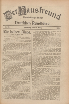 Der Hausfreund : Unterhaltungs-Beilage zur Deutschen Rundschau. 1928, Nr. 66 (29 März)