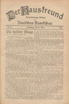 Der Hausfreund : Unterhaltungs-Beilage zur Deutschen Rundschau. 1928, Nr. 67 (30 März)