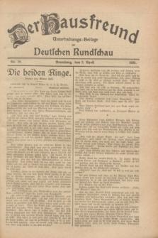 Der Hausfreund : Unterhaltungs-Beilage zur Deutschen Rundschau. 1928, Nr. 70 (3 April)