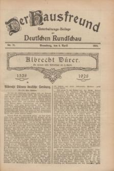 Der Hausfreund : Unterhaltungs-Beilage zur Deutschen Rundschau. 1928, Nr. 73 (6 April)