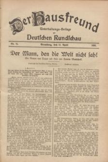 Der Hausfreund : Unterhaltungs-Beilage zur Deutschen Rundschau. 1928, Nr. 75 (11 April)