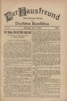 Der Hausfreund : Unterhaltungs-Beilage zur Deutschen Rundschau. 1928, Nr. 78 (15 April)