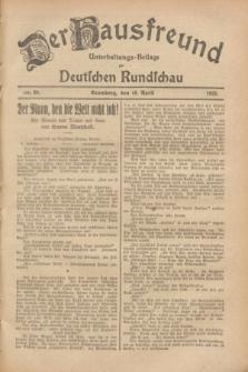 Der Hausfreund : Unterhaltungs-Beilage zur Deutschen Rundschau. 1928, Nr. 80 (18 April)