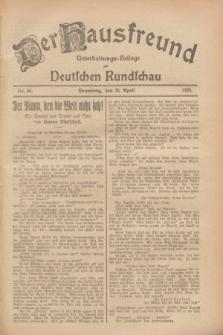 Der Hausfreund : Unterhaltungs-Beilage zur Deutschen Rundschau. 1928, Nr. 86 (26 April)