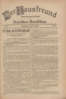 Der Hausfreund : Unterhaltungs-Beilage zur Deutschen Rundschau. 1928, Nr. 87 (27 April)
