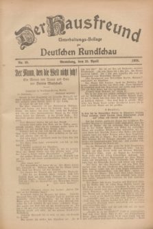 Der Hausfreund : Unterhaltungs-Beilage zur Deutschen Rundschau. 1928, Nr. 89 (29 April)