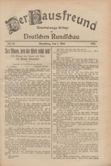 Der Hausfreund : Unterhaltungs-Beilage zur Deutschen Rundschau. 1928, Nr. 90 (1 Mai)