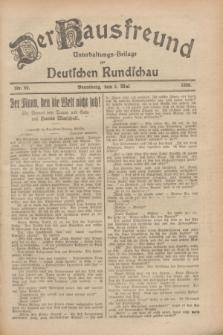 Der Hausfreund : Unterhaltungs-Beilage zur Deutschen Rundschau. 1928, Nr. 92 (3 Mai)